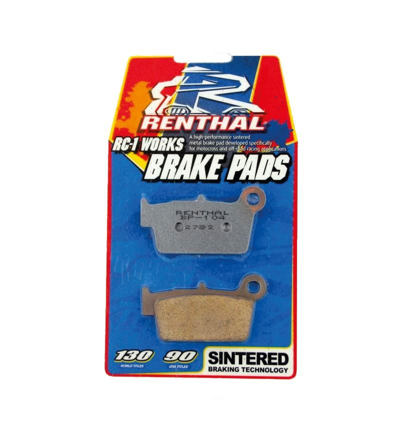 Plaquettes de frein Avant Renthal Beta RR250 Enduro 05-09 - Compétition