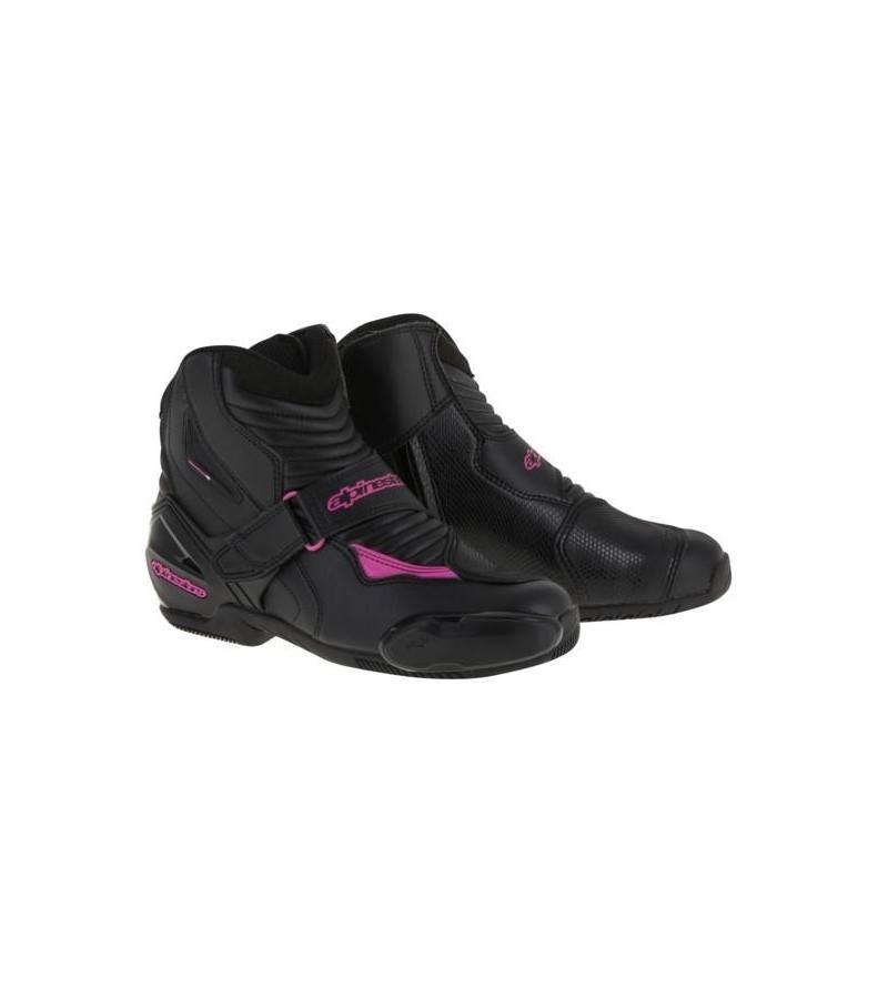 0d639d56d6426 Demi-bottes Femme Alpinestars Stella SMX-1R Fushia - Moto One Access