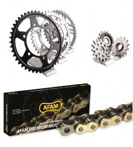 Kit chaine Afam Beta RR400 05-09 - Couronne Acier