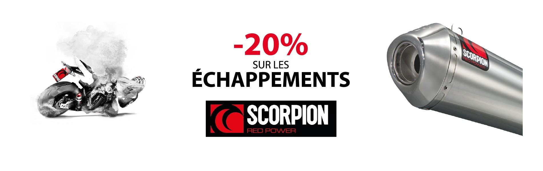 Promo sur les silencieux Scorpion